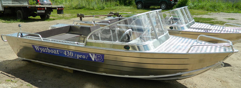 моторная лодка алюминиевая 430